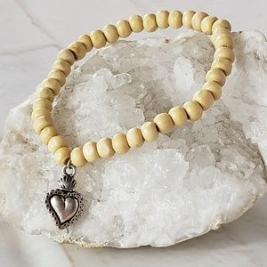 PROTECTION WOODEN BEADED BRACELETS SACRED HEART
